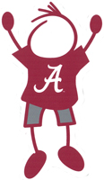 alabama stick figure decal
