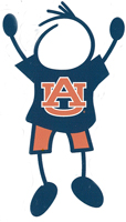 Auburn University stick figure decals
