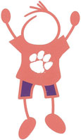 Clemson University stick figure decals