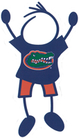university of florida gators stick figure decal