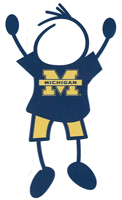 university of michigan stick figure dad window decal