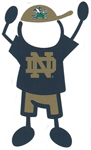 Notre Dame boy stick figure decal
