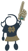 Notre Dame girl stick figure decal