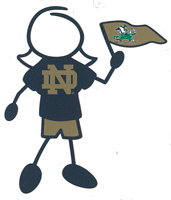 Notre Dame mom stick figure decal