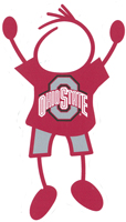 ohio state university stick figure decal