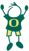 university of oregon dad stick figure decal