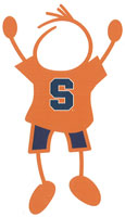 Syracuse University stick figure decals