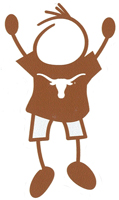 university of texas stick figure dad decal