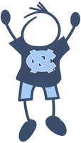 University of North Carolina stick figure decals