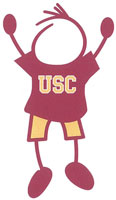 USC Trojans stick figure decals