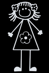 girl flowers decal