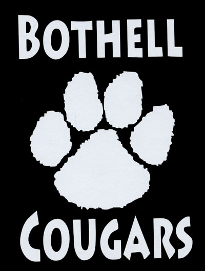 Bothell Cougar Paw window decal