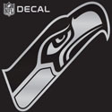 Seahawks metalic Seahawks decal